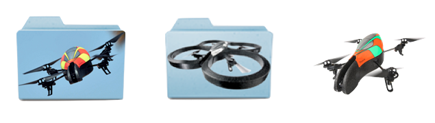 AR Drone parrot 3 icons folders for Mac