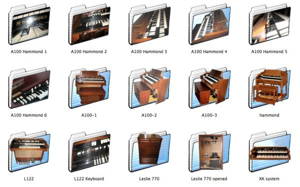 Hammond organs icon folders