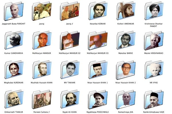 Hindustani vocalists icon folders 2