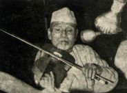 Allaudin Khan playing violin